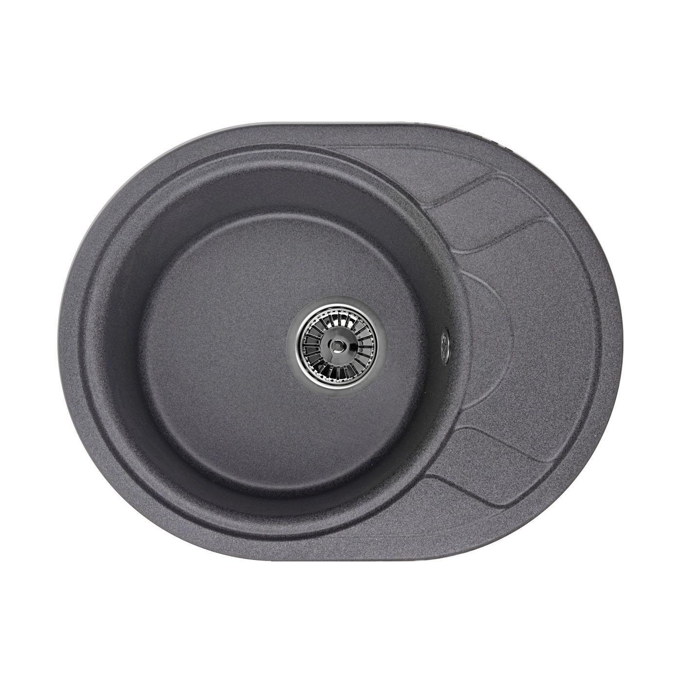 Кухонная мойка Granula GR-5802 575х445 графит мойка кухонная granula 50 5х51 см графит gr 5102 графит