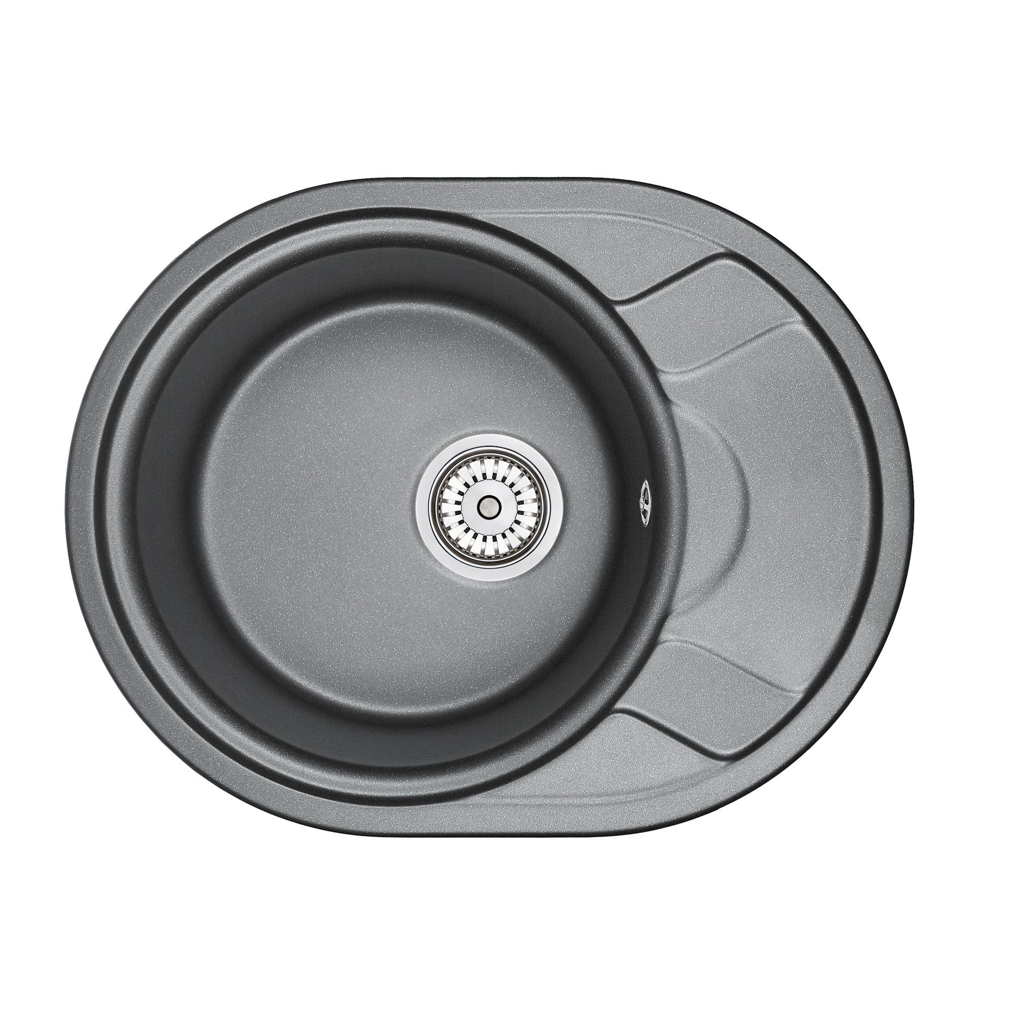 Кухонная мойка Granula GR-5802 575х445 шварц смеситель для мойки granula 1124 шварц