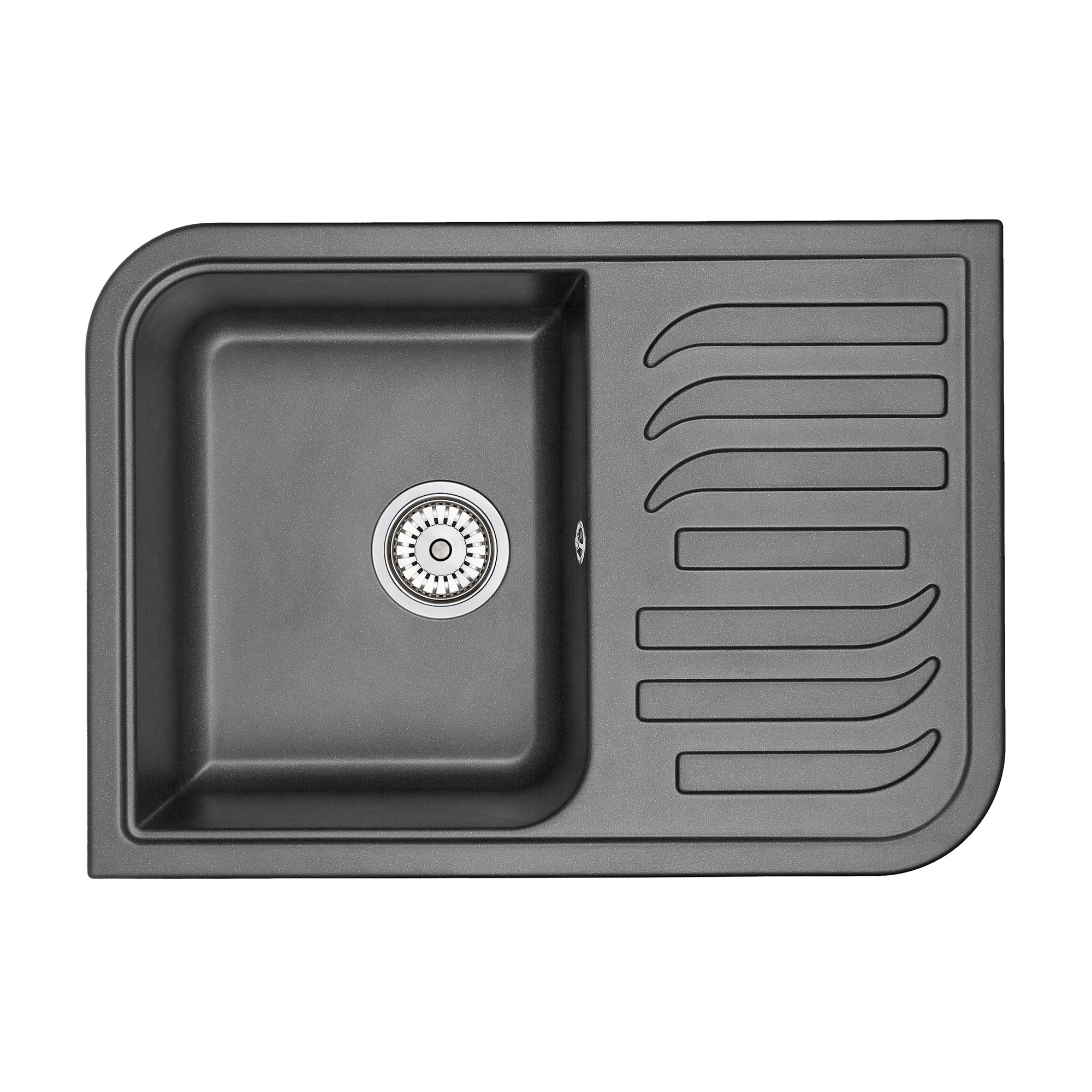Кухонная мойка Granula GR-7001 695х495 шварц смеситель для мойки granula 1124 шварц