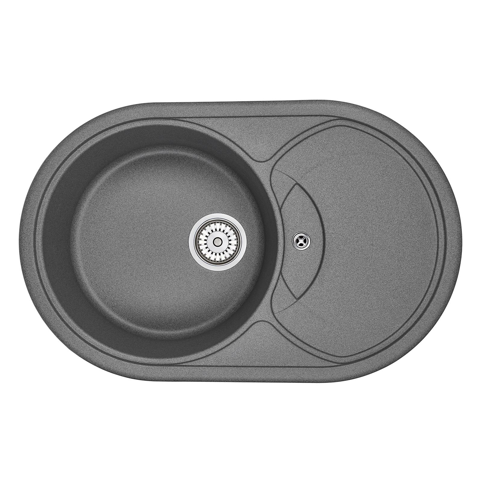 Кухонная мойка Granula GR-7801 775х495 графит кухонная мойка teka centroval mic