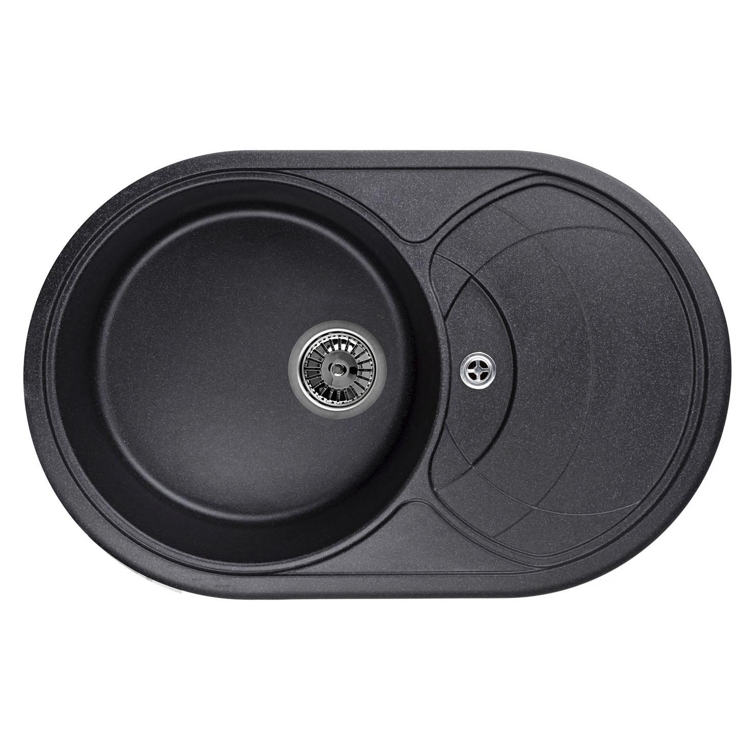 Кухонная мойка Granula GR-7801 775х495 черный кухонная мойка teka centroval mic
