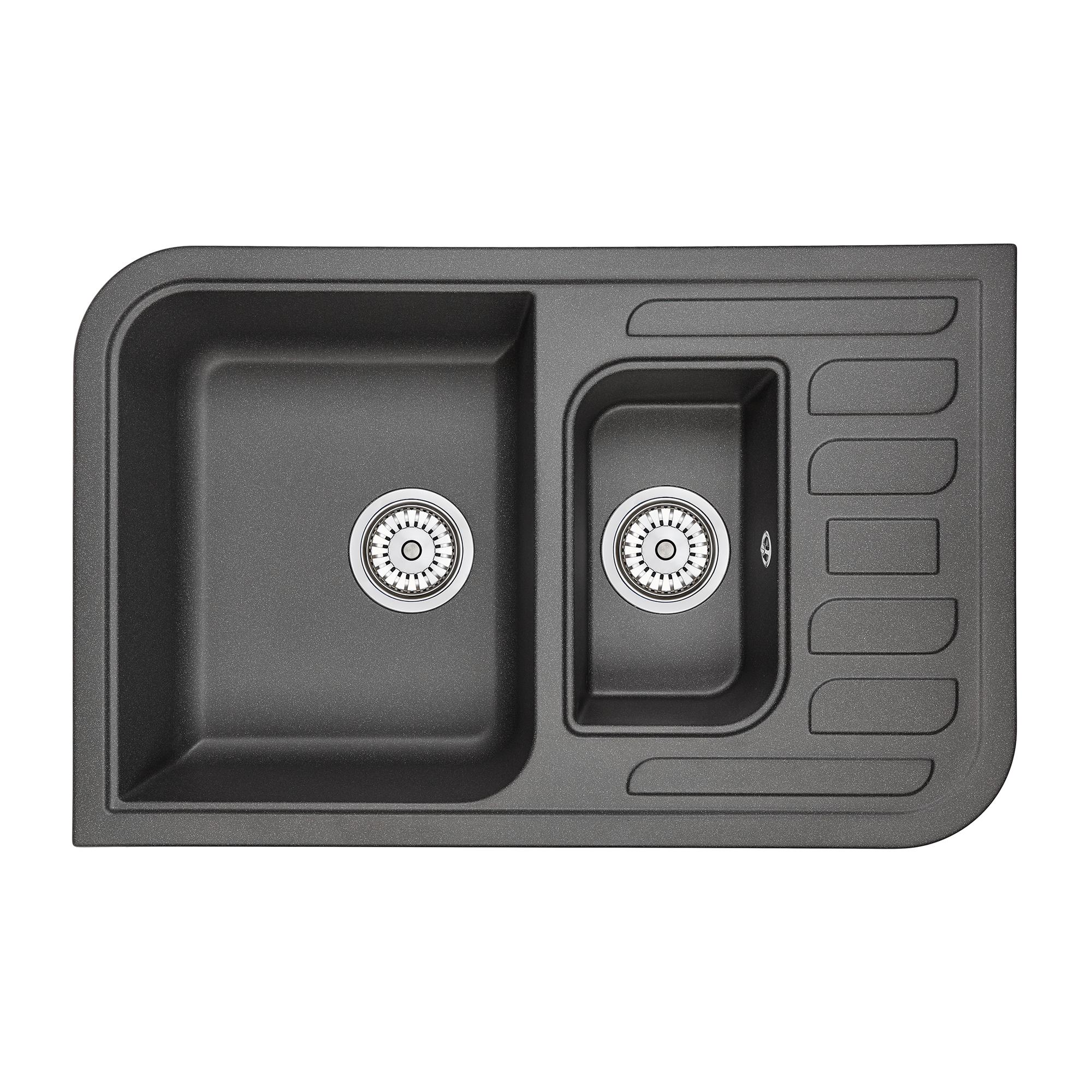 Кухонная мойка Granula GR-7803 775х495 черный