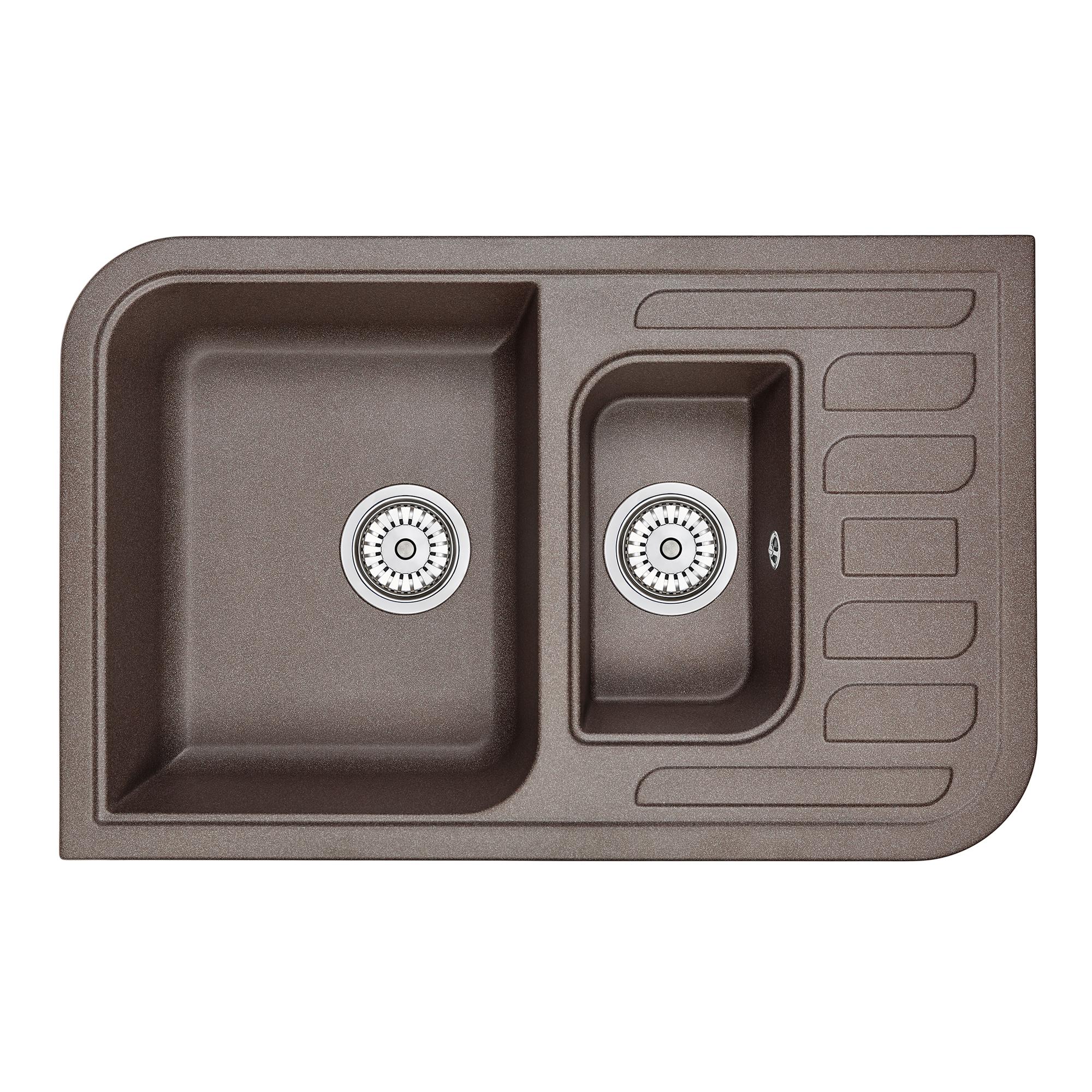 Кухонная мойка Granula GR-7803 775х495 эспрессо