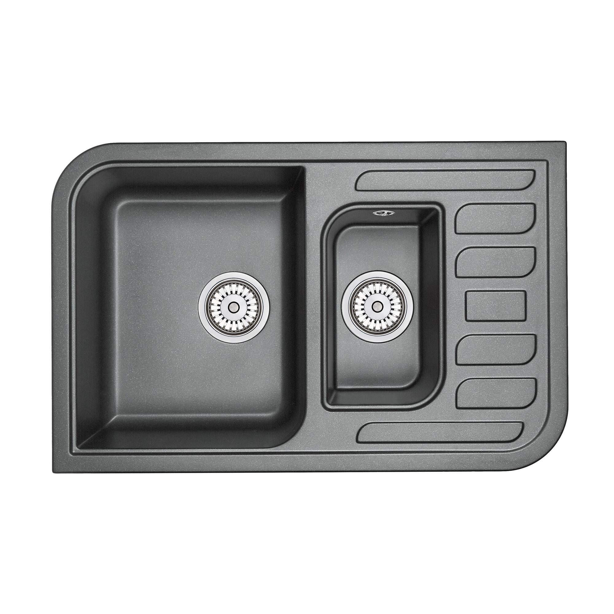 Кухонная мойка Granula GR-7803 775х495 шварц