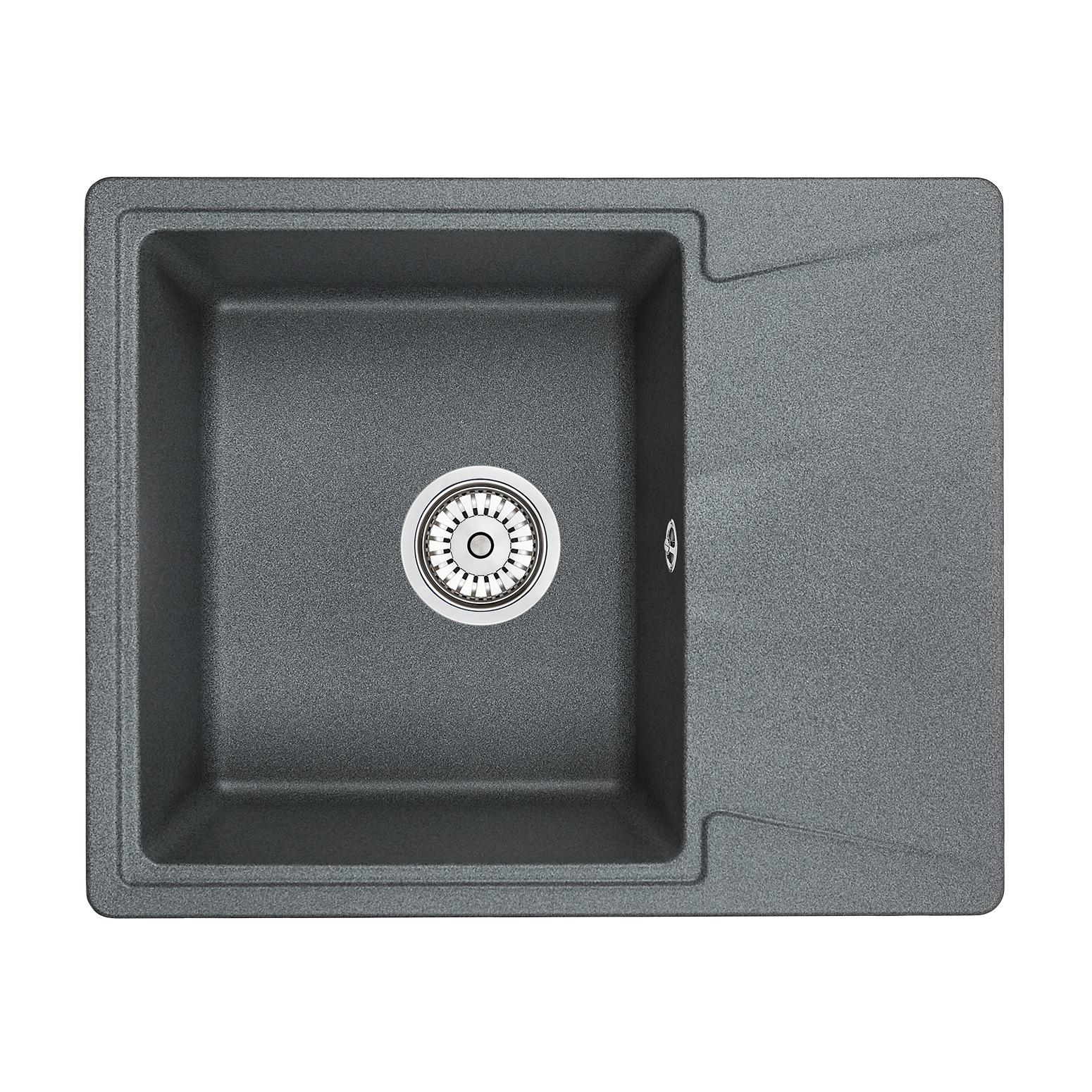 Кухонная мойка Granula GR-6201 620х500 графит кухонная мойка teka centroval mic