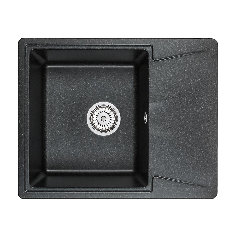 Кухонная мойка Granula GR-6201 620х500 черный кухонная мойка teka centroval mic