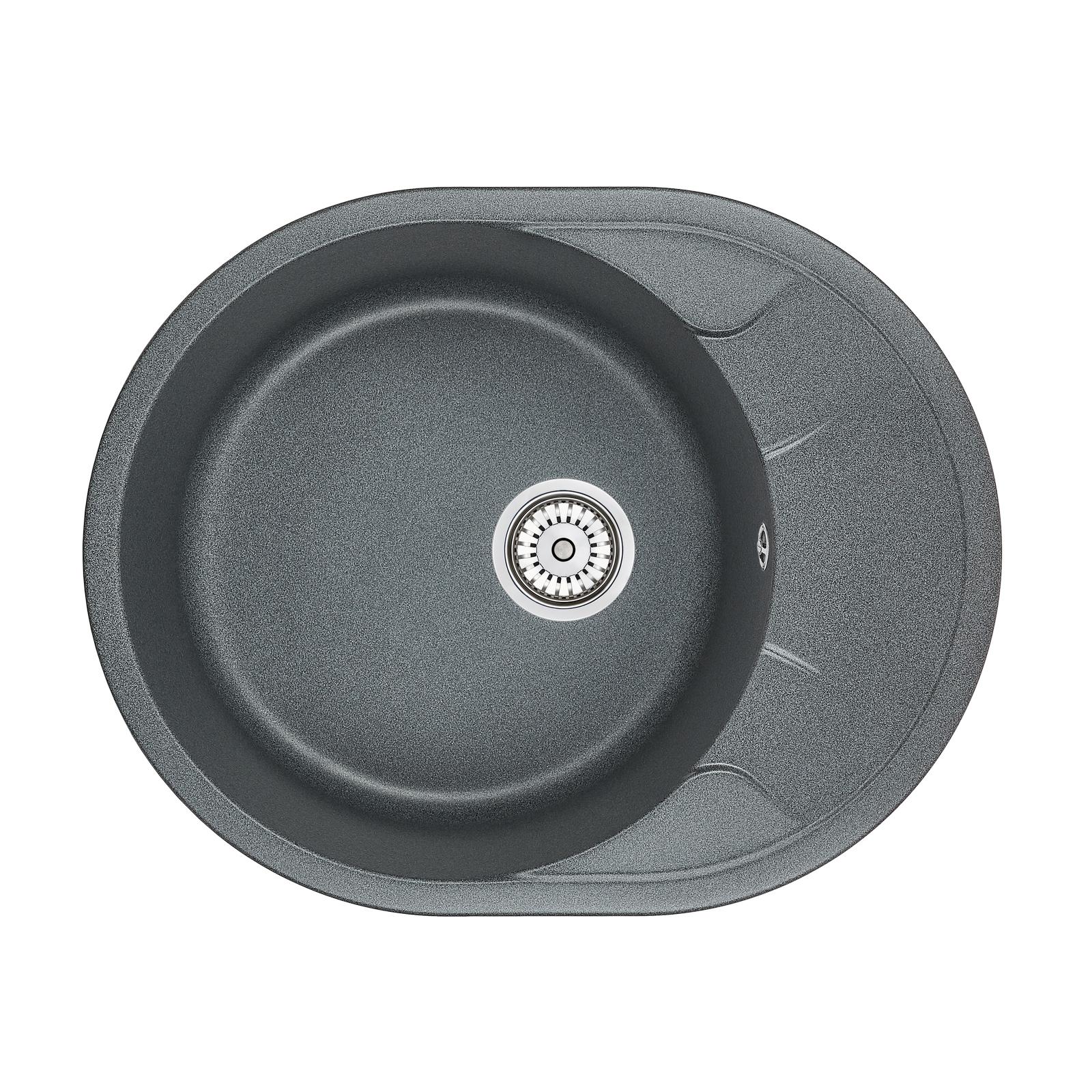 Кухонная мойка Granula GR-6301 630х500 графит кухонная мойка teka centroval mic