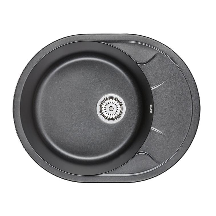 Кухонная мойка Granula GR-6301 630х500 шварц кухонная мойка teka centroval mic