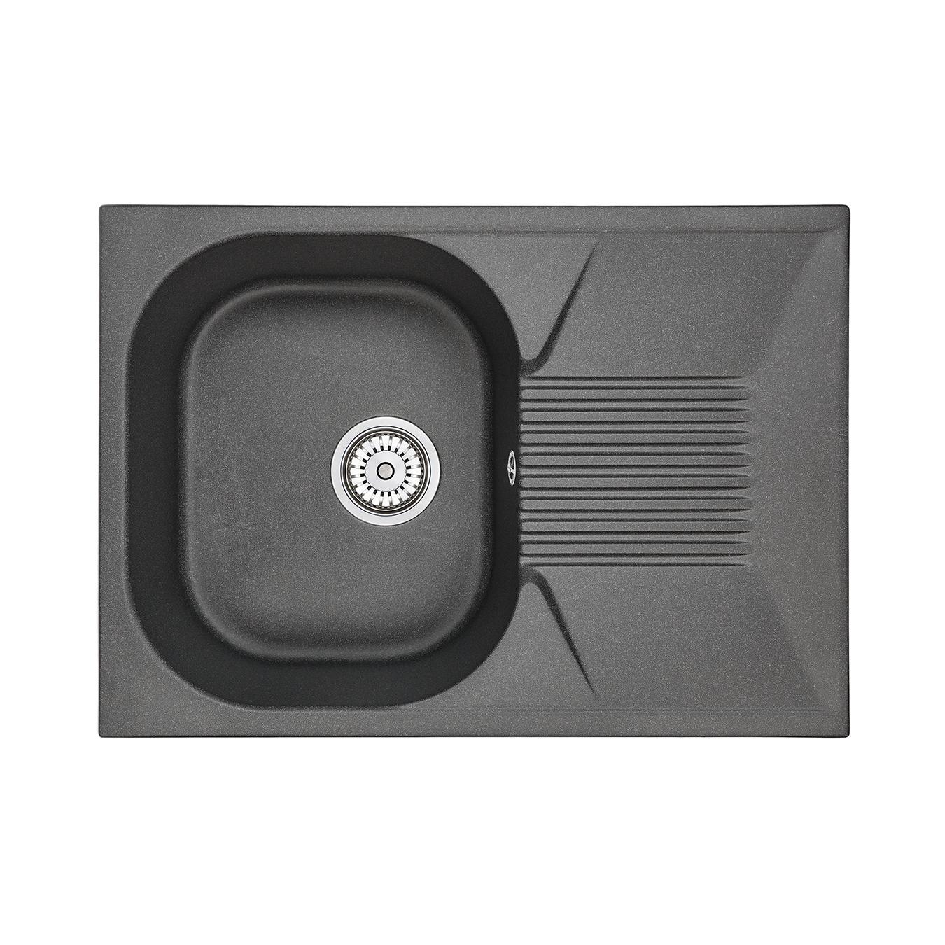 Кухонная мойка Granula GR-7002 690х490 шварц кухонная мойка teka centroval mic