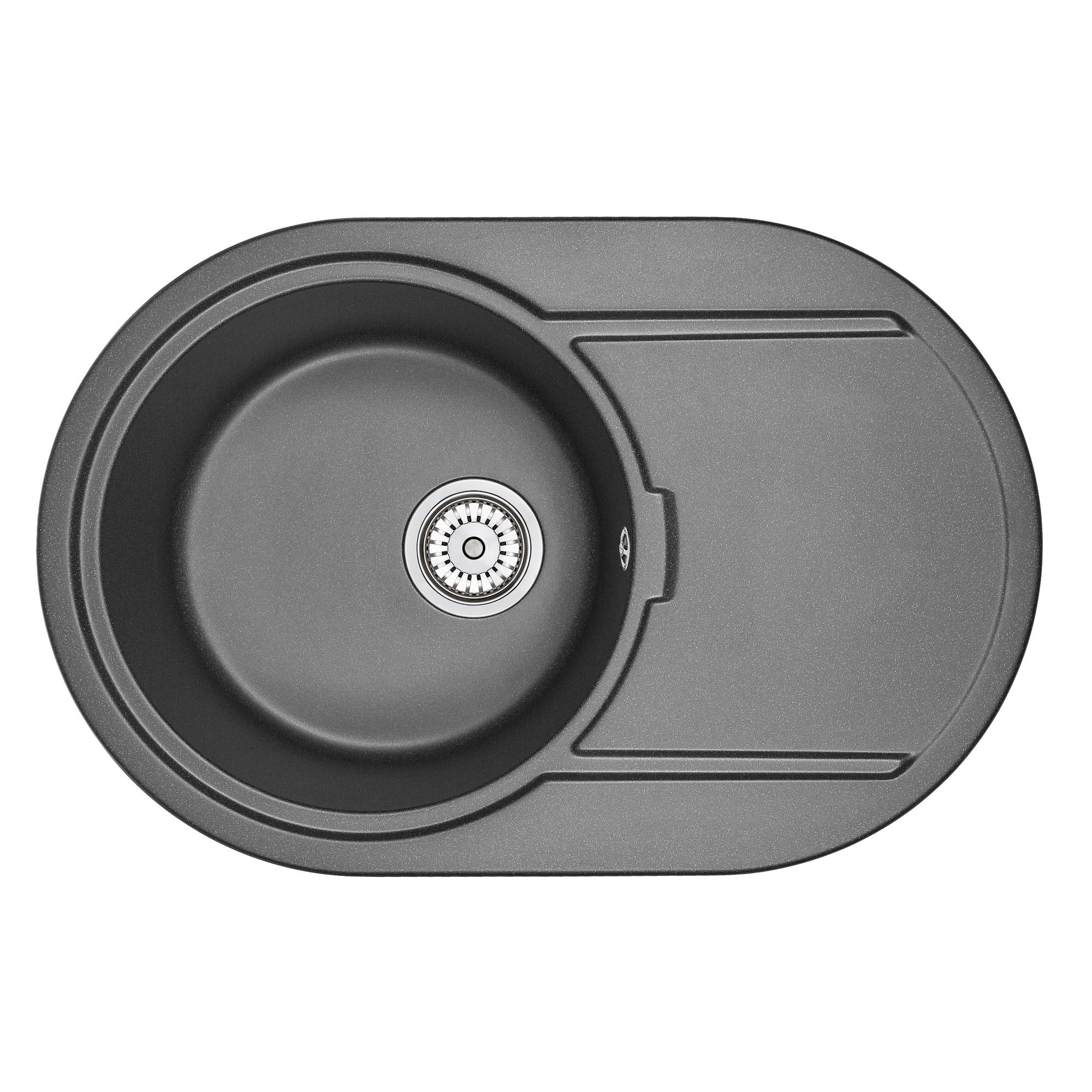 Кухонная мойка Granula GR-7603 760х500 черный кухонная мойка teka centroval mic