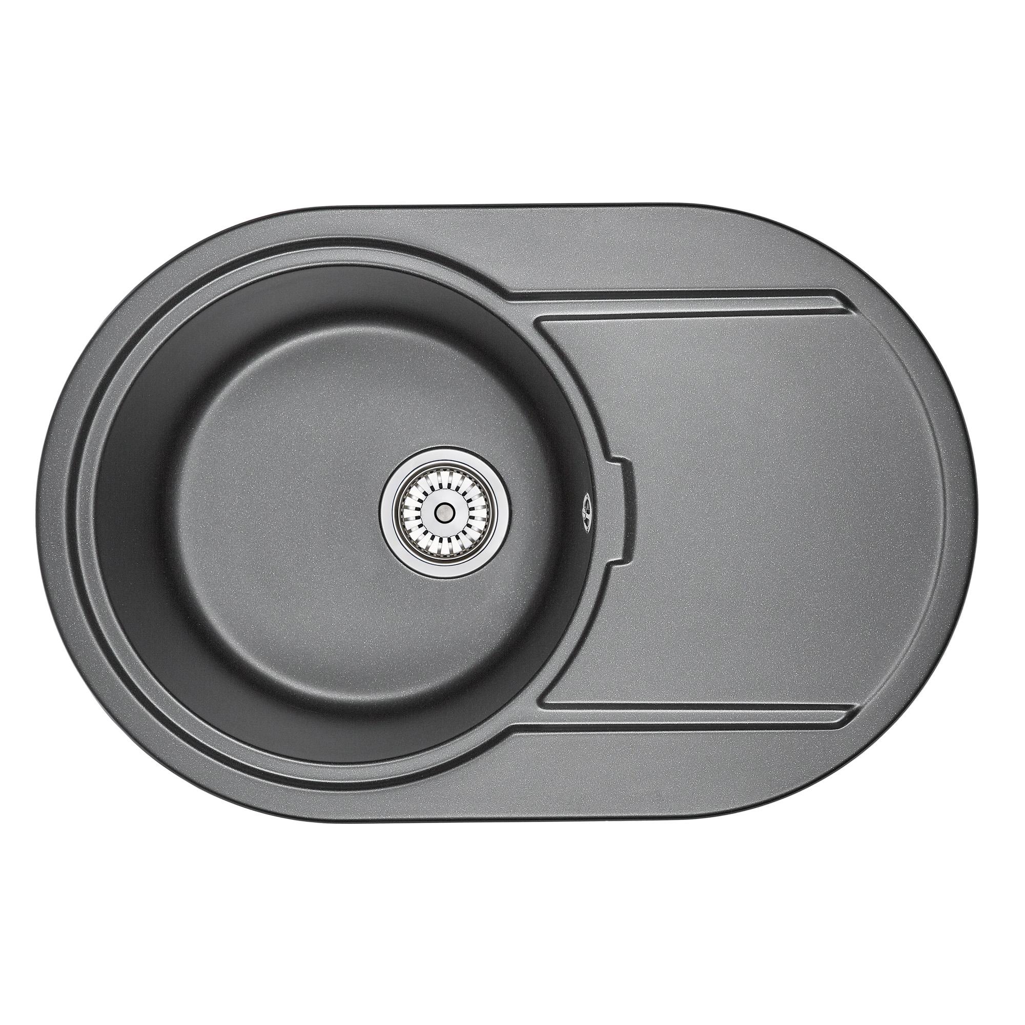 Кухонная мойка Granula GR-7603 760х500 шварц кухонная мойка teka centroval mic