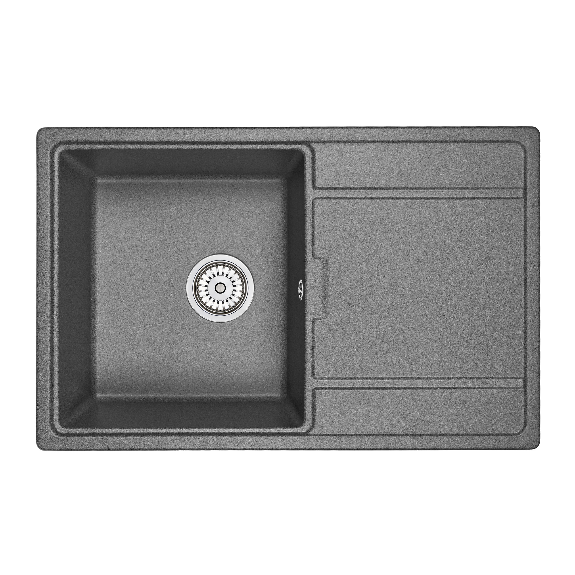 Кухонная мойка Granula GR-7804 780х500 графит кухонная мойка teka centroval mic