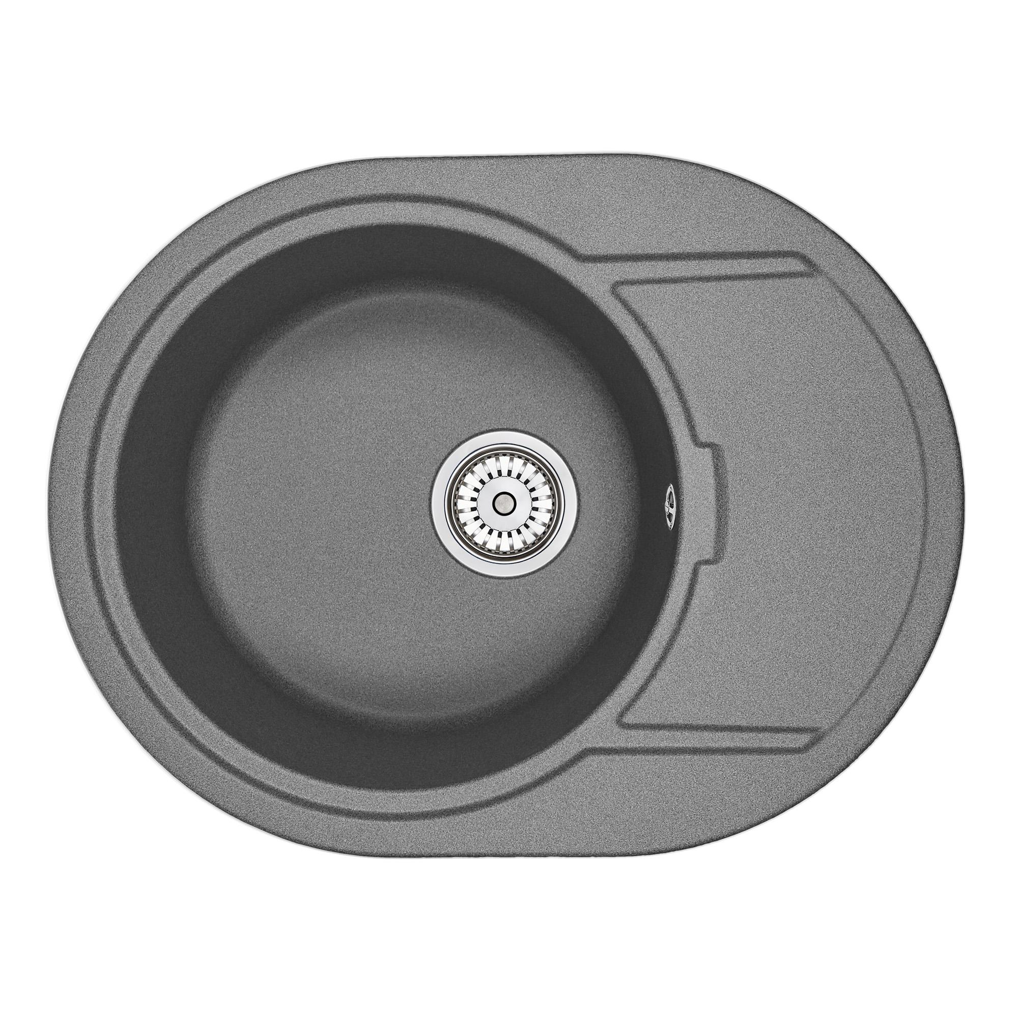 Кухонная мойка Granula GR-6502 650х500 графит кухонная мойка teka centroval mic