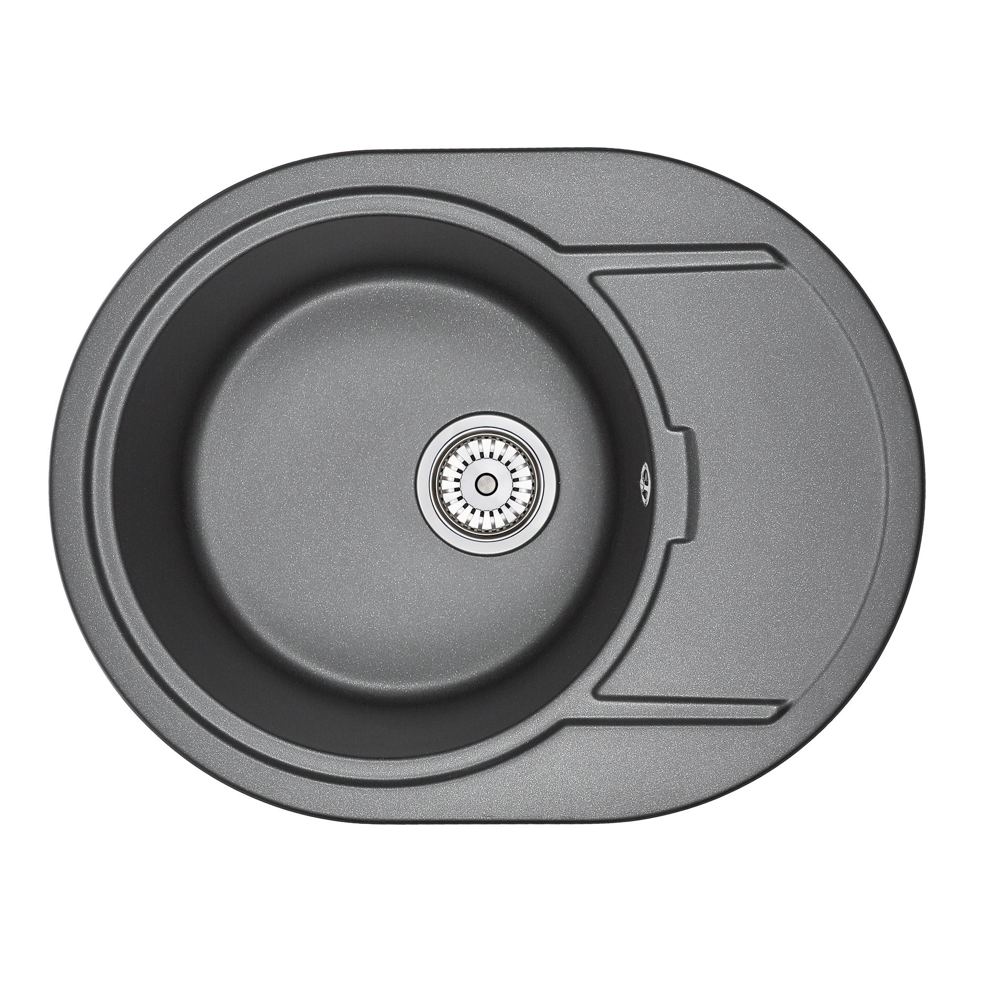 Кухонная мойка Granula GR-6502 650х500 шварц кухонная мойка teka centroval mic