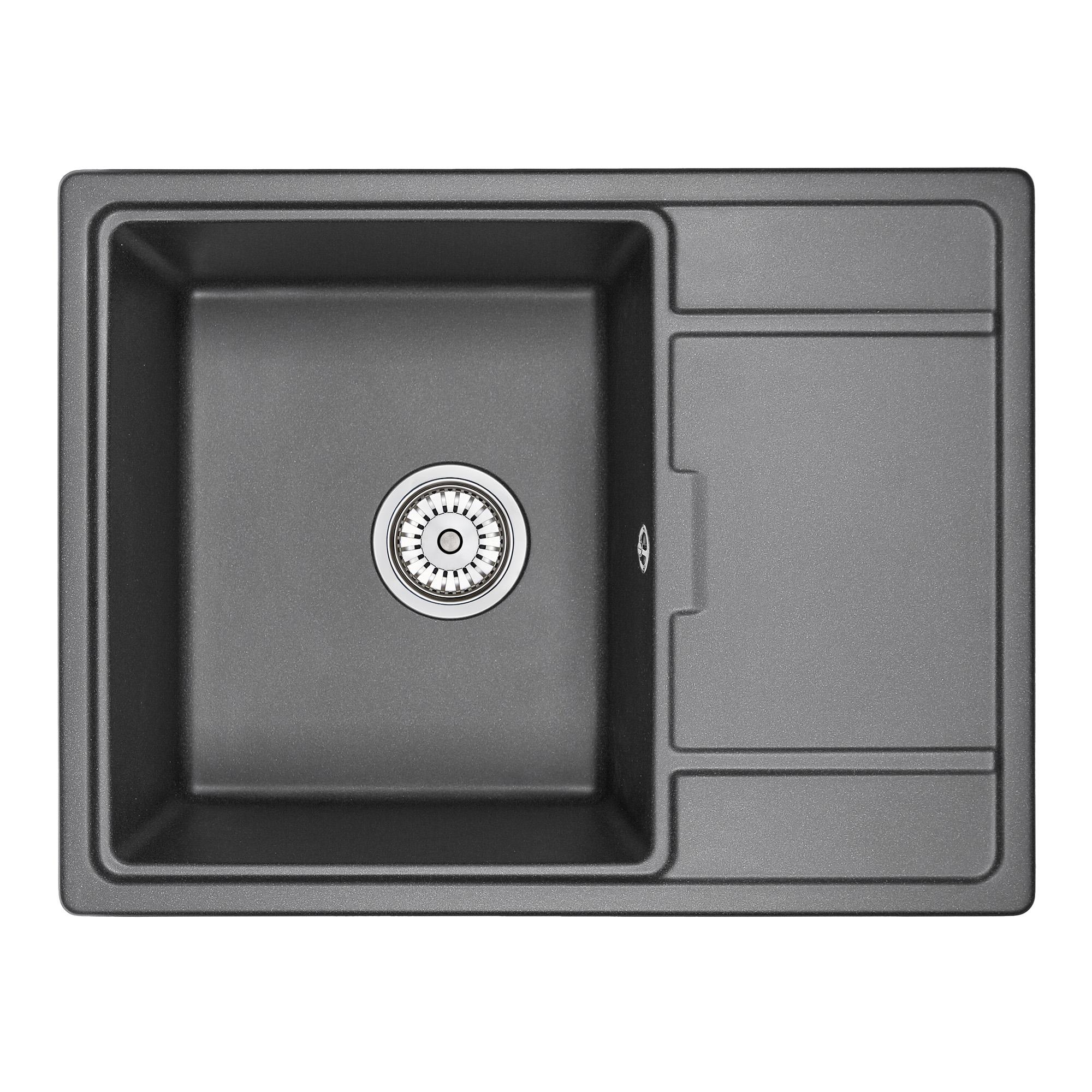 Кухонная мойка Granula GR-6503 650х500 шварц смеситель для мойки granula 1124 шварц