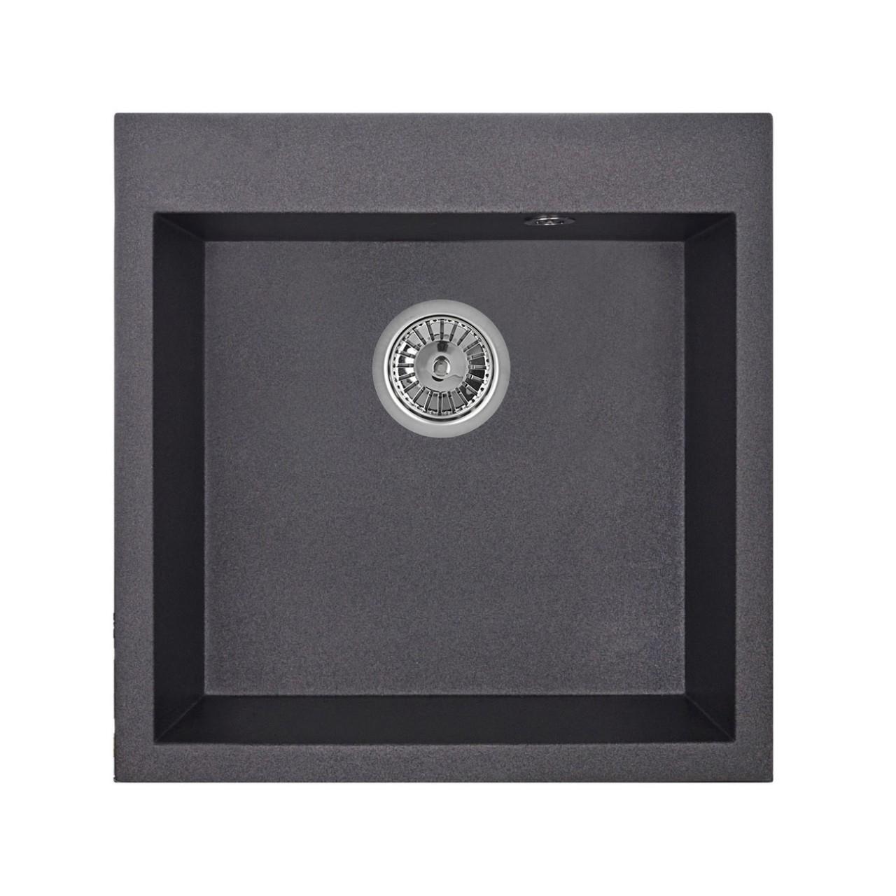 Кухонная мойка Granula GR-5102 505х510 шварц смеситель для мойки granula 1124 шварц
