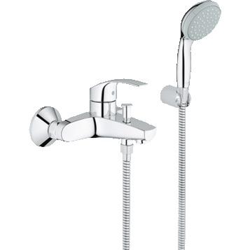 Смеситель Grohe Eurosmart 33302002 для ванны смеситель для ванны vidima уно с прямоугольным поворотным изливом с душевым гарнитуром ba320aa