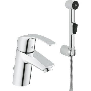 Смеситель Grohe Eurosmart 23124002 для раковины смеситель с гигиеническим душем grohe eurosmart хром 23124002