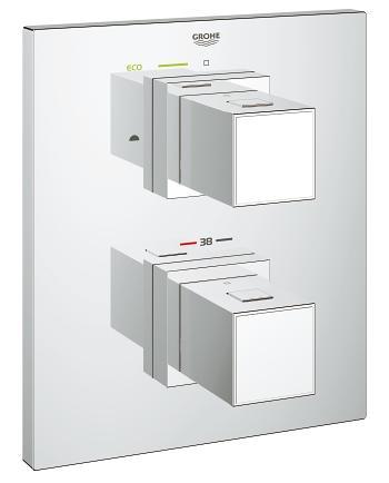 Смеситель Grohe Grohtherm Cube 19958000 для ванны механизм grohe grohtherm f встраиваемый для 27621000 35034000