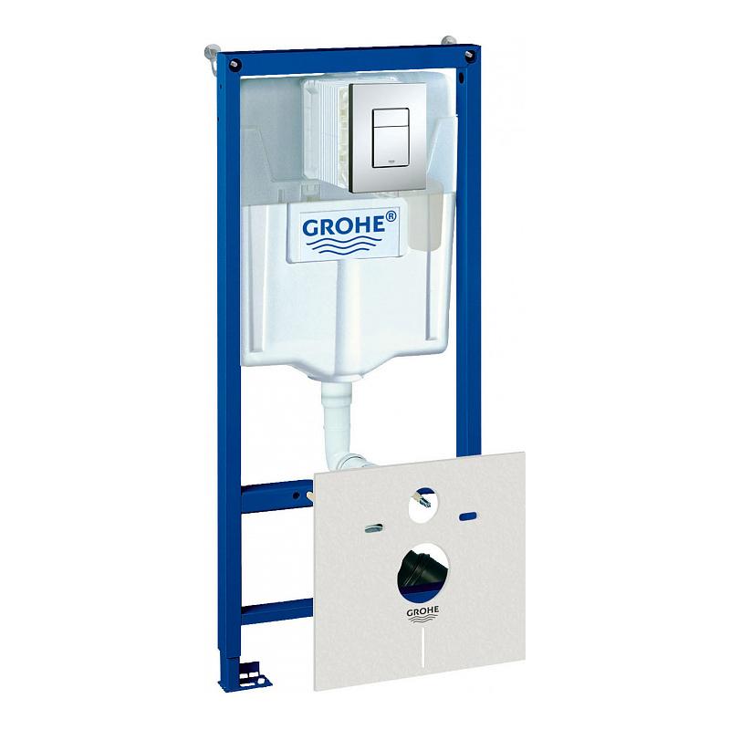 Инсталляция для унитаза Grohe Rapid SL 38827000 инсталляция grohe rapid sl для унитаза усиленная 38584001