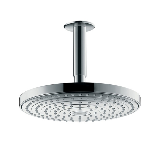 Верхний душ Hansgrohe Raindance Select S 240 2jet 26467400 белый хром верхний душ hansgrohe raindance select s 240 2jet 26466000