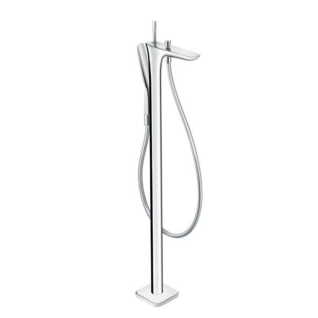 Смеситель Hansgrohe PuraVida 15473000 для ванны смеситель для ванны hansgrohe puravida напольный 15473000
