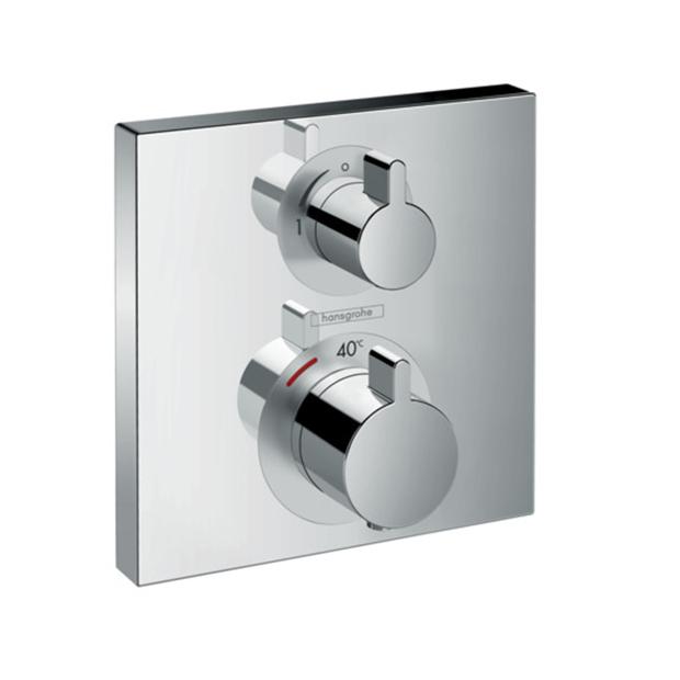 Смеситель Hansgrohe Ecostat 15712000 (внешняя часть) для душа термостат для душа hansgrohe ecostat metris c запорным переключающим вентилем 31573000