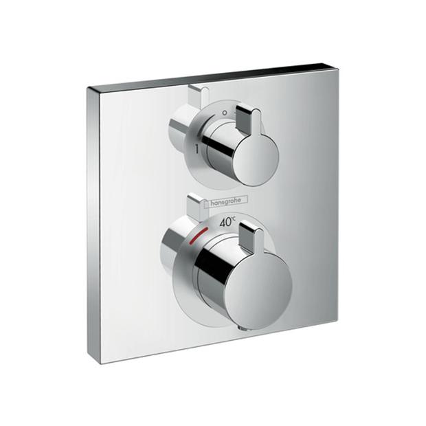 Смеситель Hansgrohe Ecostat 15714000 (внешняя часть) для душа термостат для душа hansgrohe ecostat metris c запорным переключающим вентилем 31573000