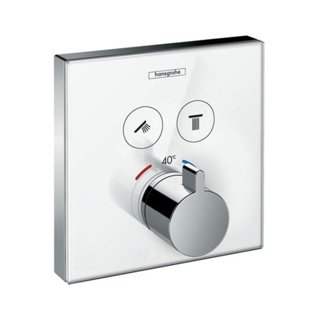 Смеситель Hansgrohe ShowerSelect 15738400 (внешняя часть) для душа переключатель внешняя часть hansgrohe showerselect на 3 потребителя 15764000