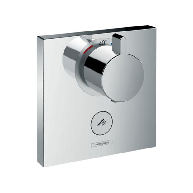 Смеситель Hansgrohe ShowerSelect Highfow 15761000 (внешняя часть) для душа переключатель внешняя часть hansgrohe showerselect на 3 потребителя 15764000