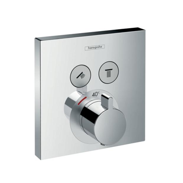Смеситель Hansgrohe ShowerSelect 15763000 (внешняя часть) для душа переключатель внешняя часть hansgrohe showerselect на 3 потребителя 15764000