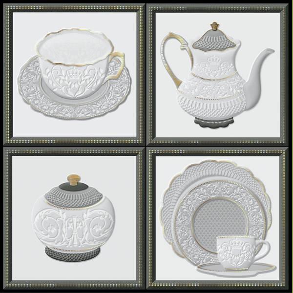 Фото - Декор Heralgi Garden Dec Tea Cold 15х15 (отгрузка кратно 4, 4 разных варианта декора) tea garden