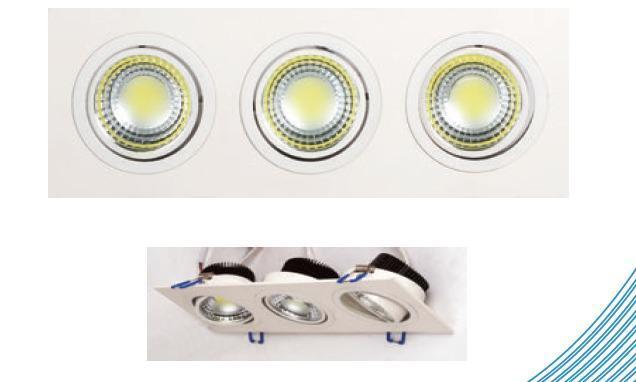 Встраиваемый светодиодный светильник Horoz 3X5W 2700К белый 016-021-0015 (HL6703L) встраиваемый светодиодный светильник horoz 15w 6000к белый 016 017 0015 hl6756l