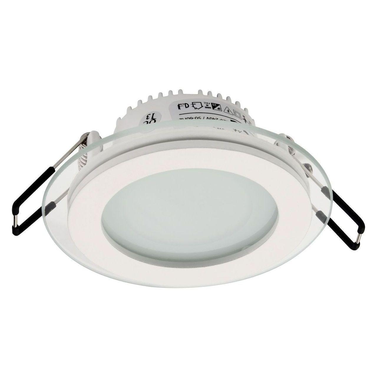 Встраиваемый светодиодный светильник Horoz 6W 3000K белый 016-016-0006 (HL687LG)
