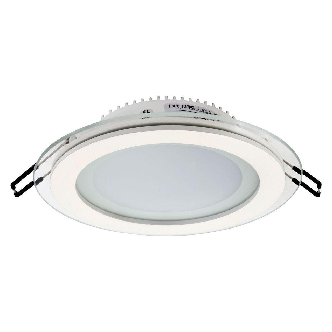 Встраиваемый светодиодный светильник Horoz 12W 3000K белый 016-016-0012 (HL688LG) встраиваемый светодиодный светильник horoz 15w 6000к белый 016 017 0015 hl6756l
