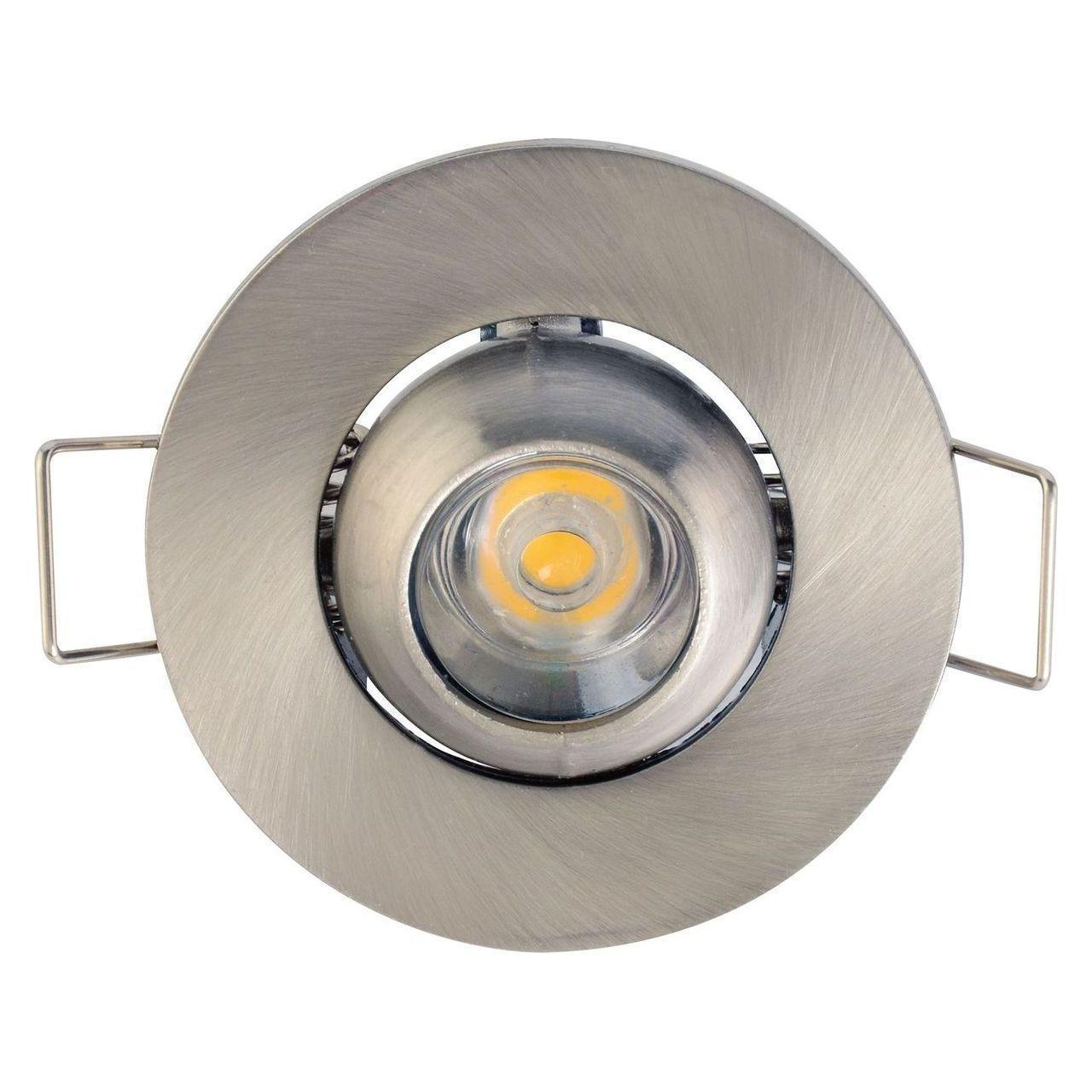 Встраиваемый светодиодный светильник Horoz Fiona 1W 6400К хром 016-028-0001 встраиваемый светодиодный светильник horoz nadia 1w 6400к матовый хром 016 027 0001