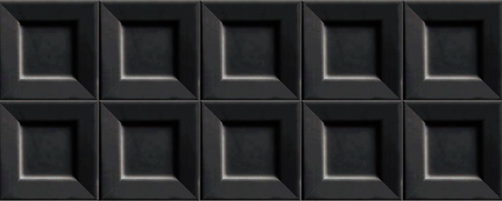 все цены на Настенная плитка Ibero Cubic Black 20х50