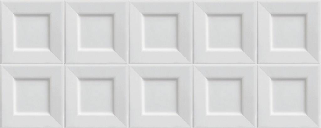 все цены на Настенная плитка Ibero Cubic White 20х50