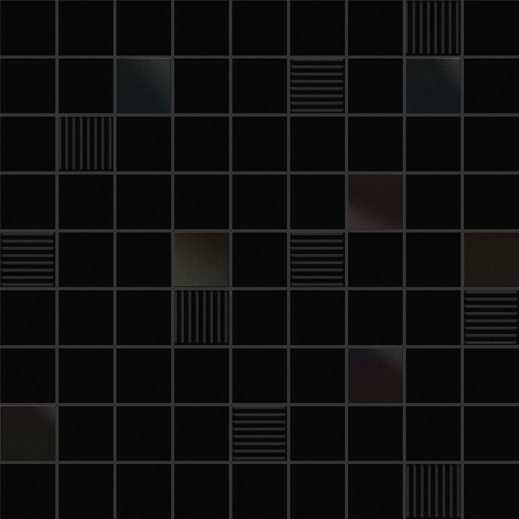 Декор Ibero Mos. Cubic Black 31,6х31,6