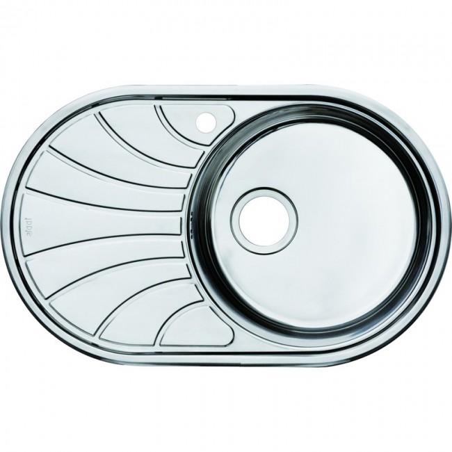 Кухонная мойка Iddis Suno S SUN77PRi77 полированная мойка для кухни нержавеющая сталь полированная чаша справа iddis suno sun65pri77