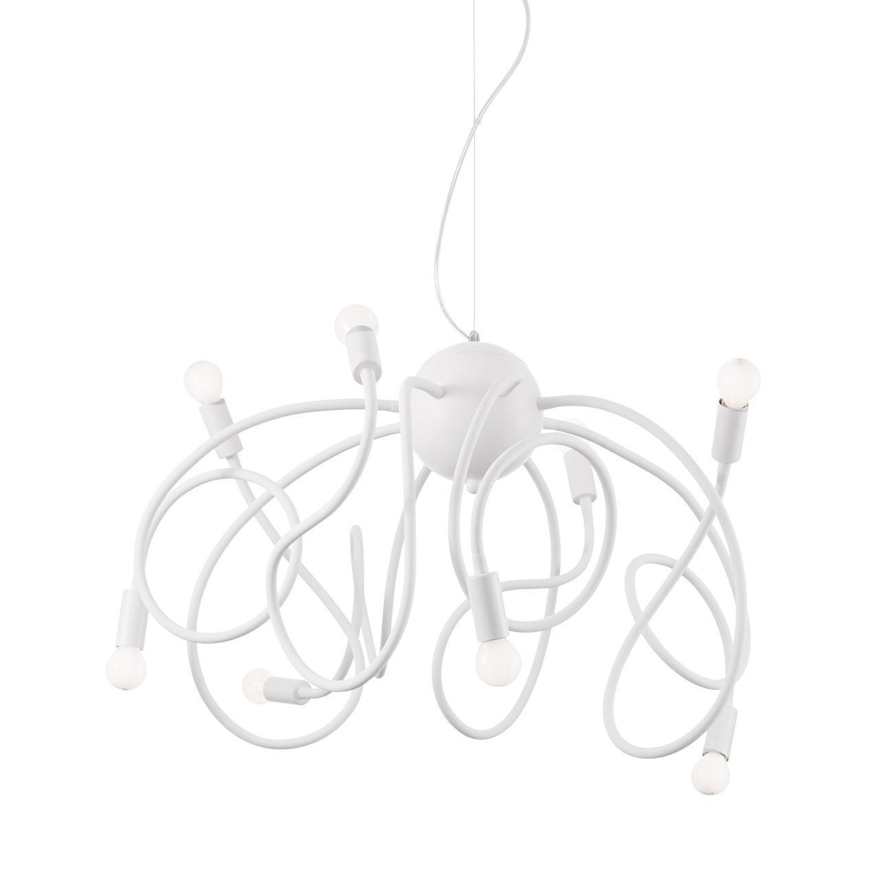 Люстра Ideal Lux Multiflex SP8 Bianco подвесная цена