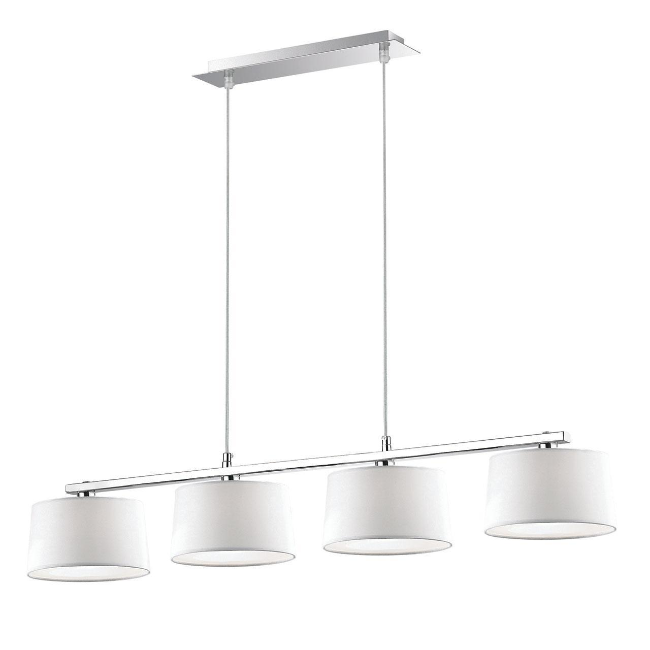 Люстра Ideal Lux Hilton SP4 Linear Bianco подвесная люстра ideal lux hilton hilton sp6 round nero