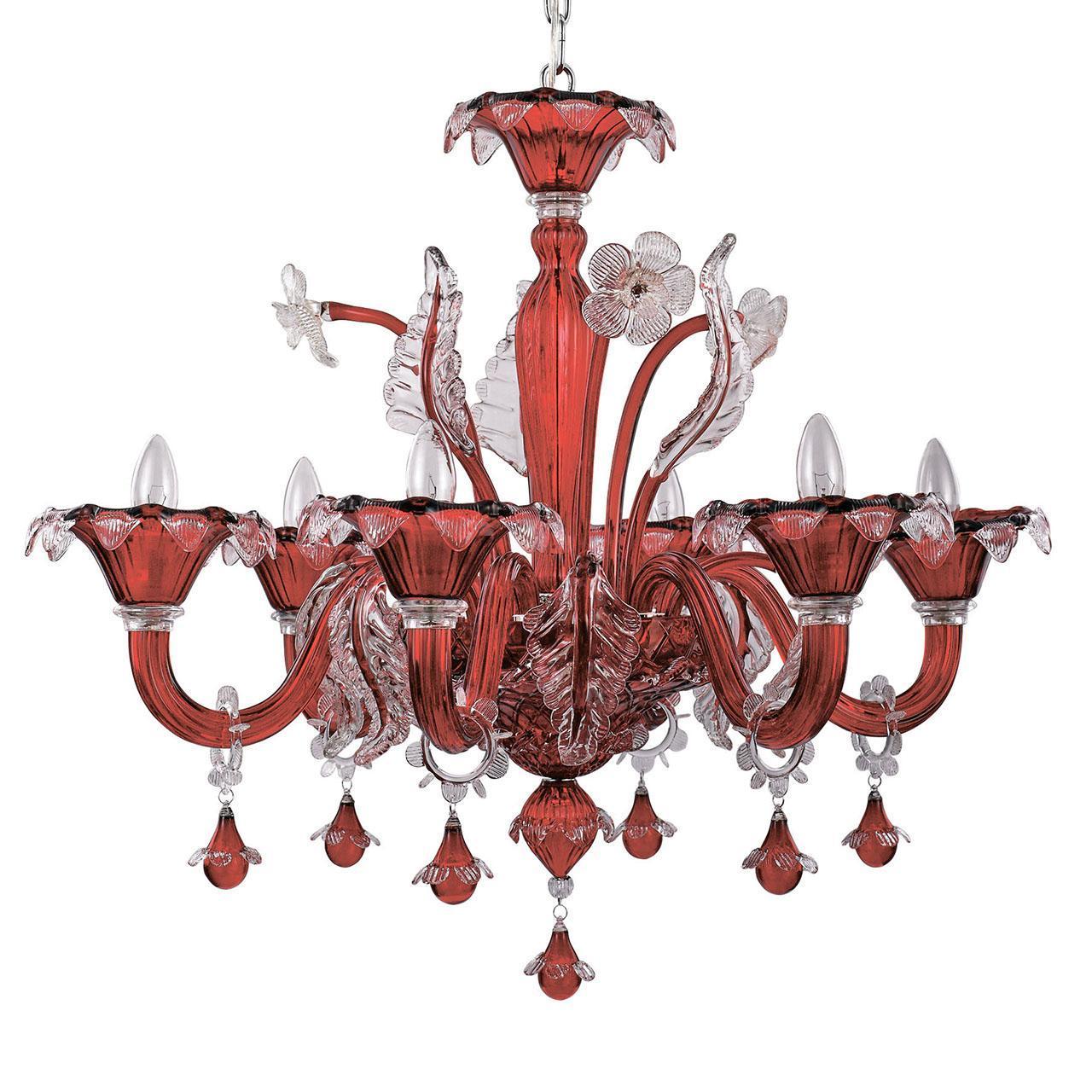 Подвесная люстра Ideal Lux Ca Vendramin SP6 Rosso стоимость