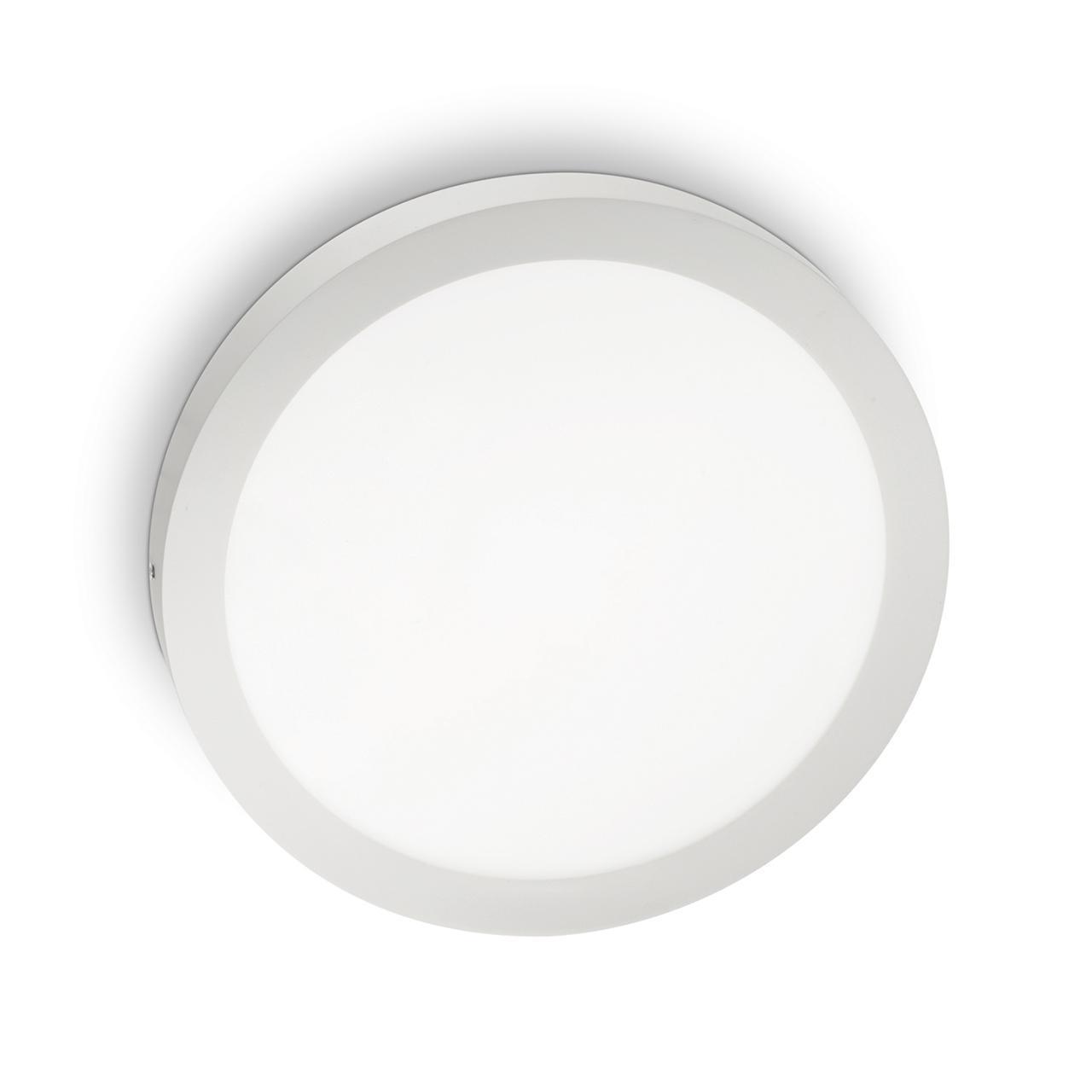 Настенно-потолочный светодиодный светильник Ideal Lux Universal 24W Round Bianco