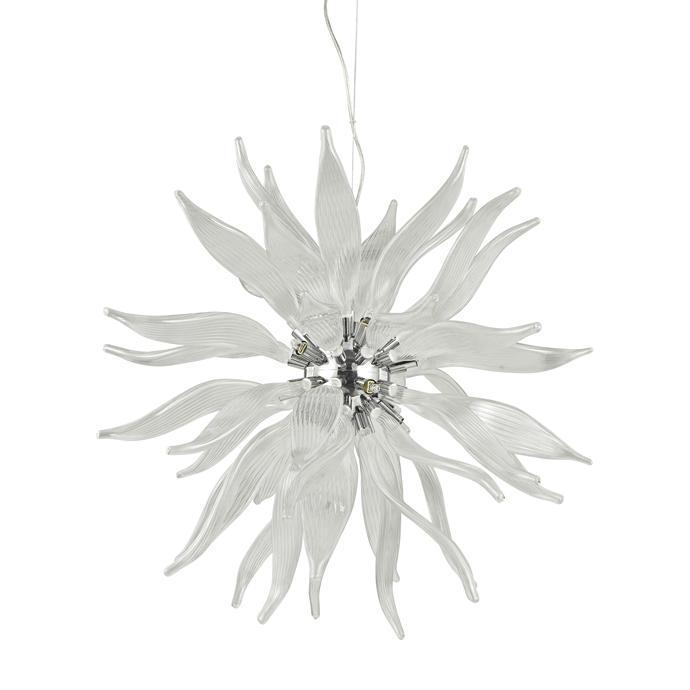 Подвесной светильник Ideal Lux Leaves SP12 Bianco ideal lux подвесной светильник ideal lux leaves sp8 bianco