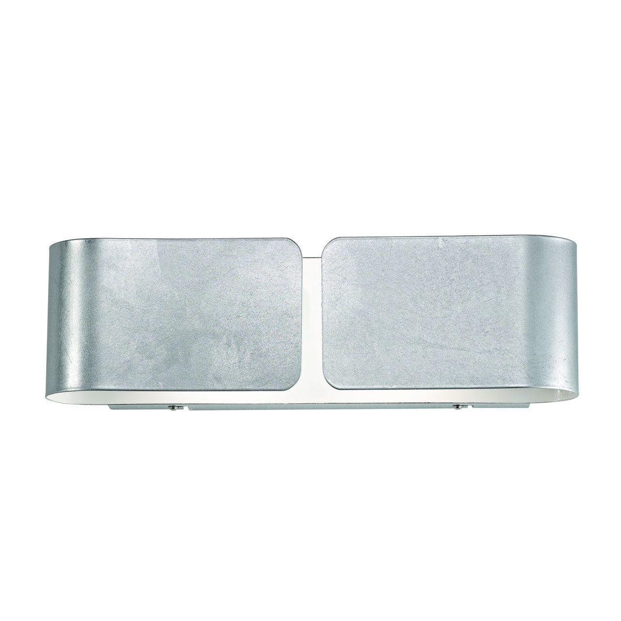 Настенный светильник Ideal Lux Clip AP2 Small Argento настенный светильник ideal lux clip ap2 small argento