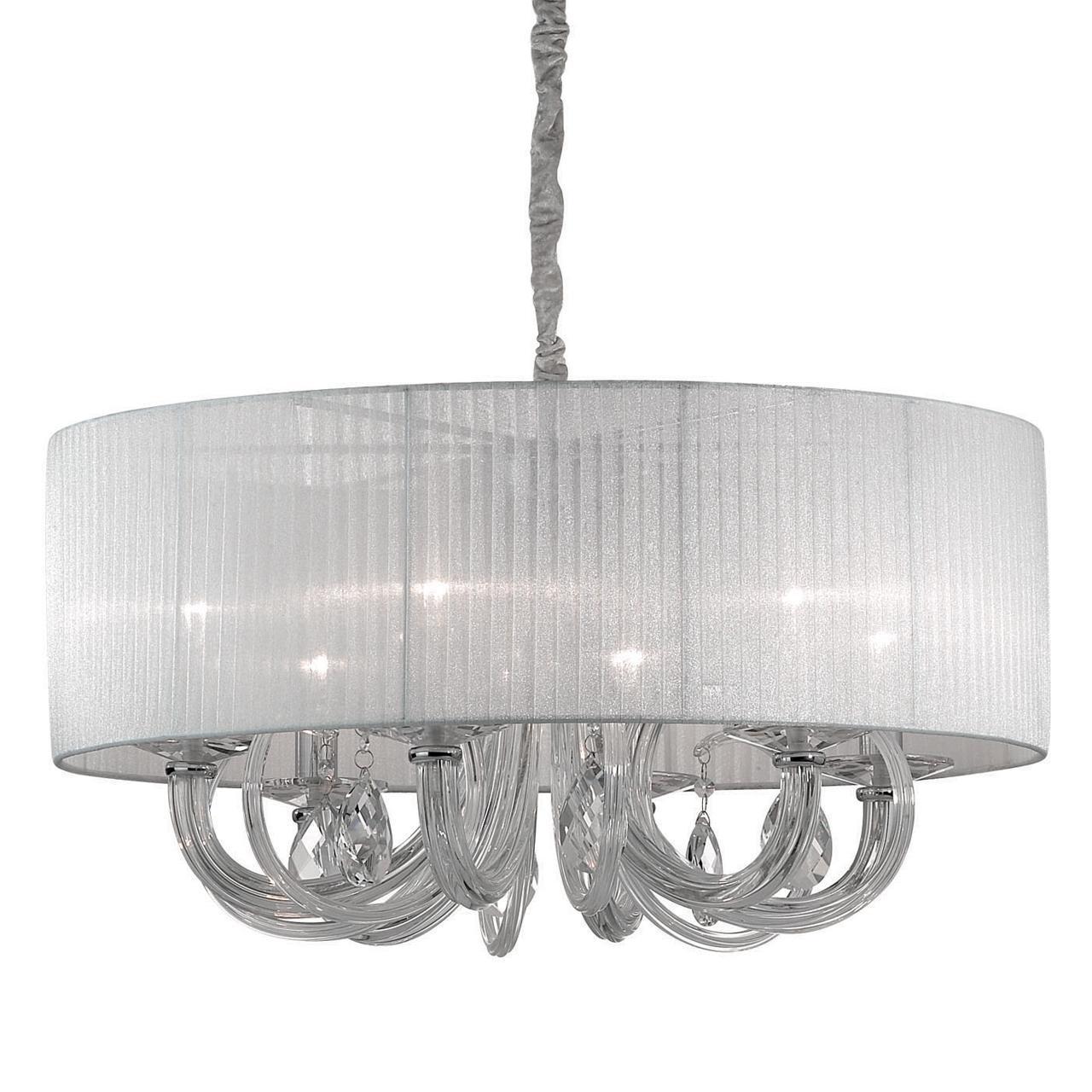 Люстра Ideal Lux Swan SP6 Bianco подвесная цена