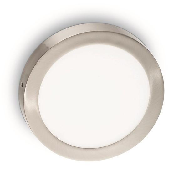 Настенно-потолочный светодиодный светильник Ideal Lux Universal 24W Round Nickel