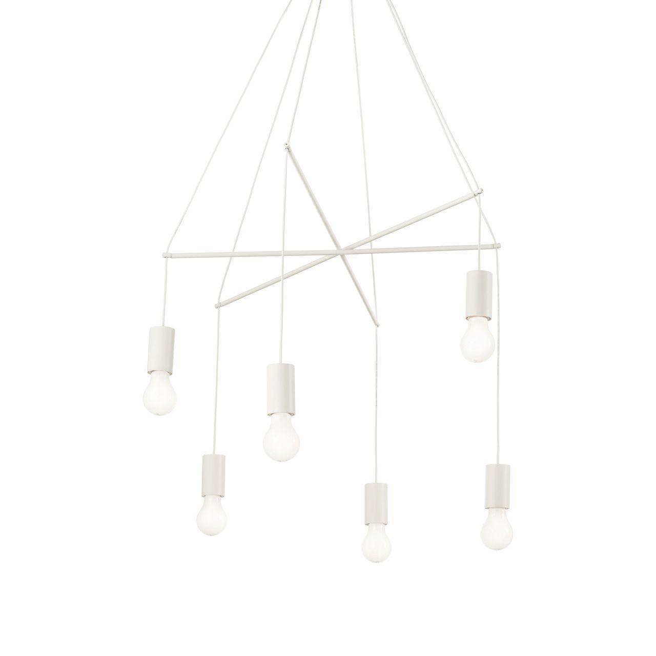 Фото - Люстра Ideal Lux Pop SP6 Bianco подвесная ideal lux подвесная люстра ideal lux teseo sp6
