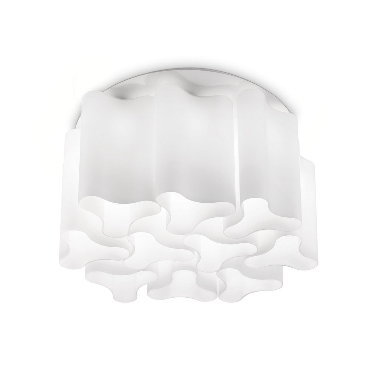 Потолочная люстра Ideal Lux Compo PL10 Bianco потолочная чаша ideal lux cup msb3 bianco 122854